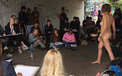 Fredagsbar med Street Croquis i Graffiti tunnelen